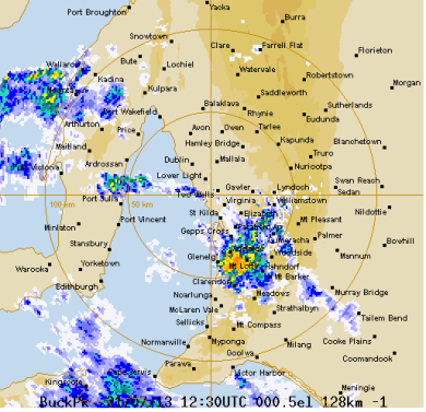 Screengrab weather radar