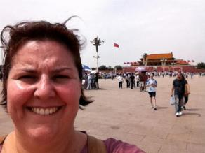 Selfy of me in China
