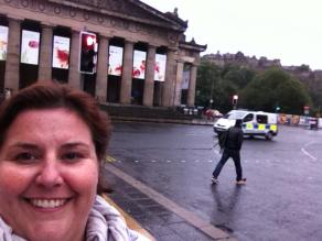 Selfy of me in Edinburgh