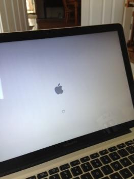Screen of broken laptop